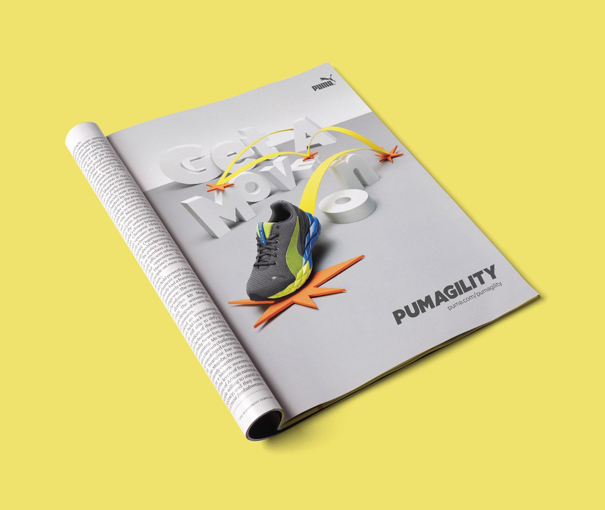 PUMAGILITY Ad Campaign Design for PUMA