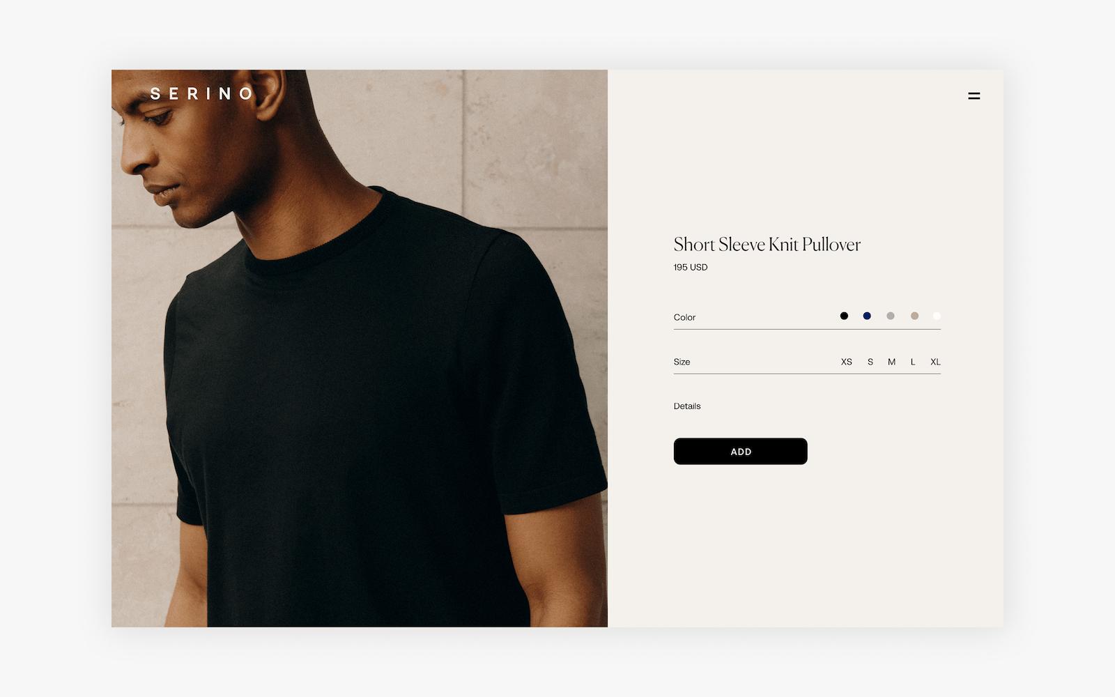 Serino Studio - Ecommerce Shopify Website Design + Development Comps