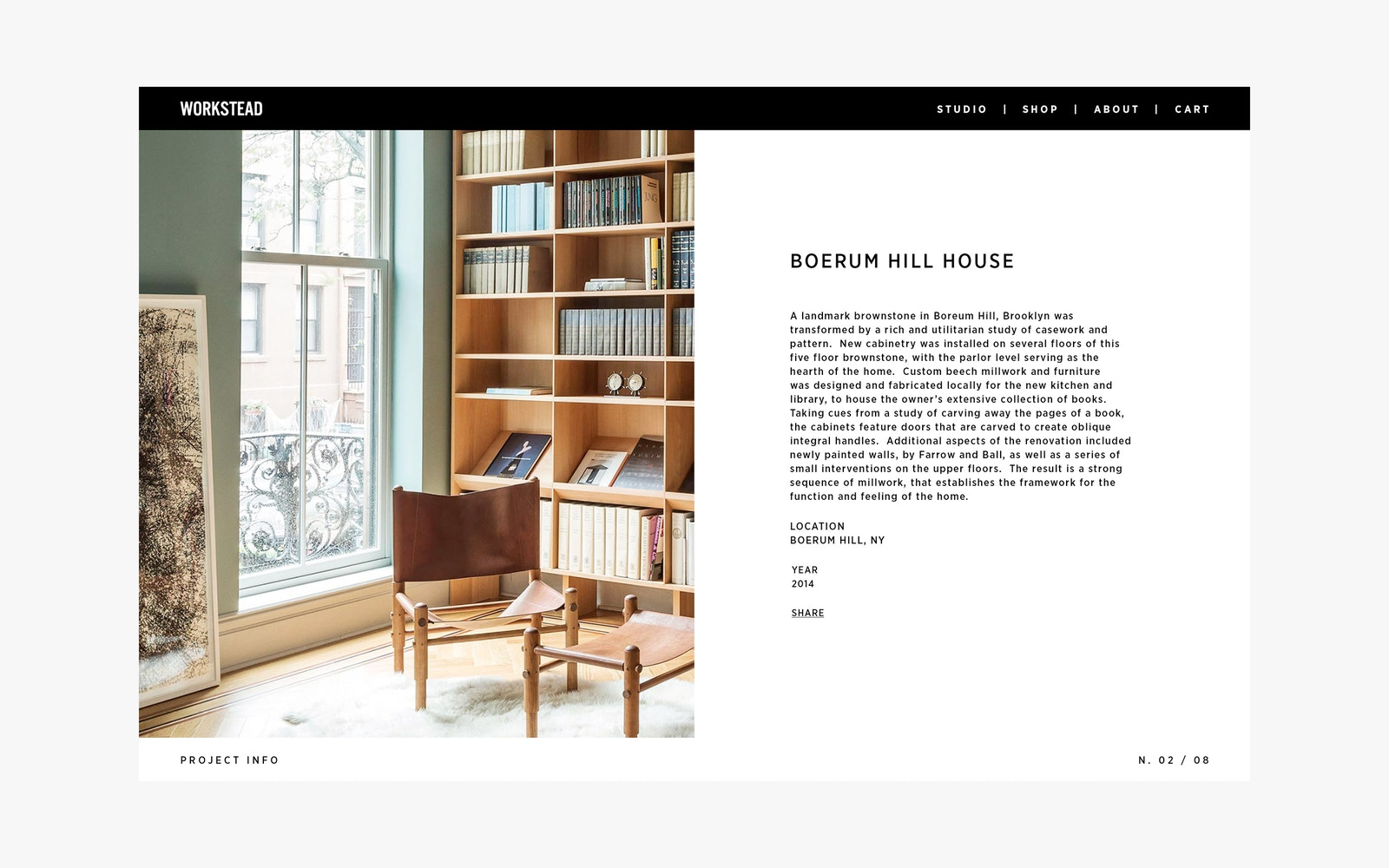 Web Design for Workstead Interior Design Firm