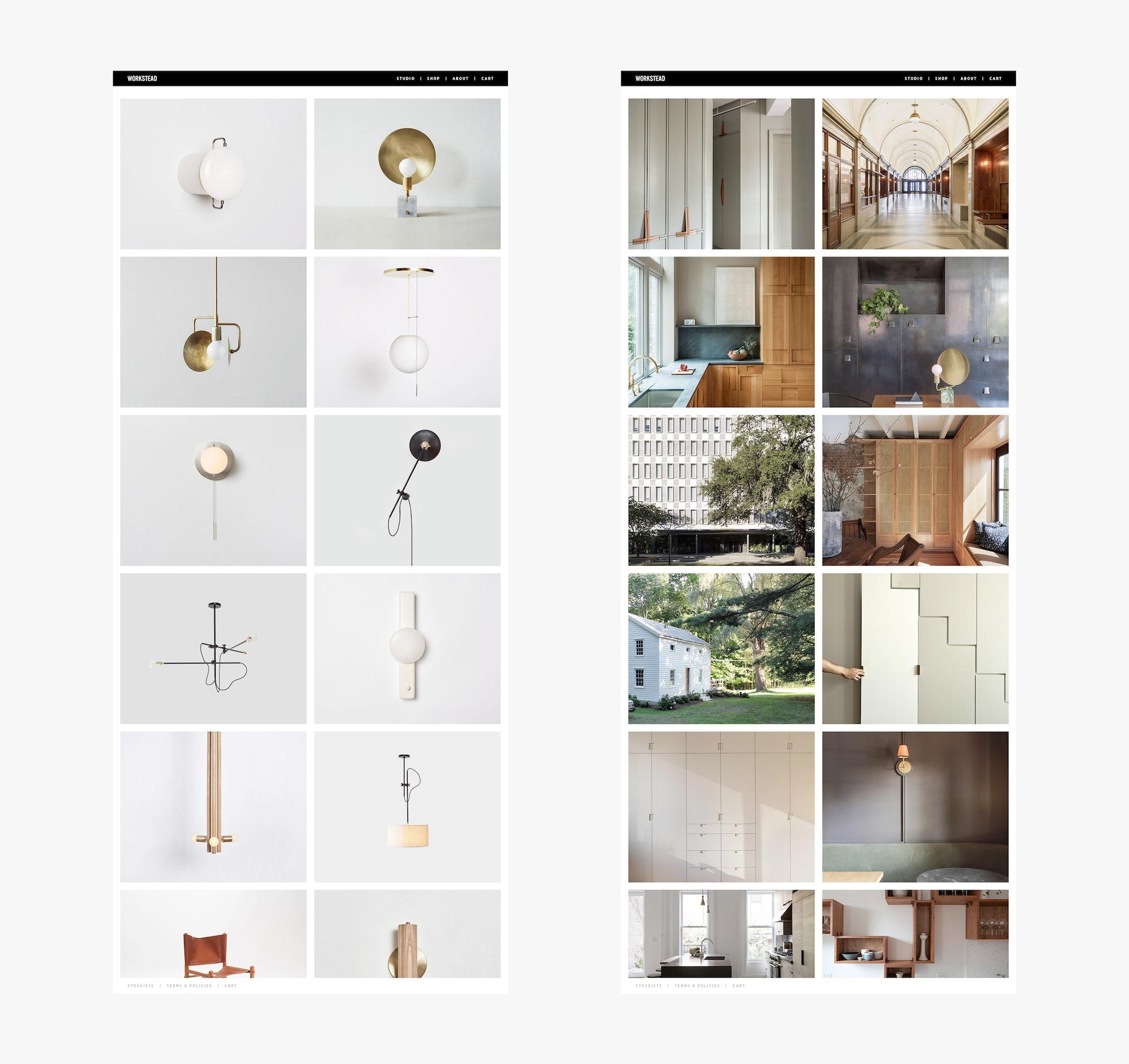 Ecommerce Web Design for Lighting Design Studio
