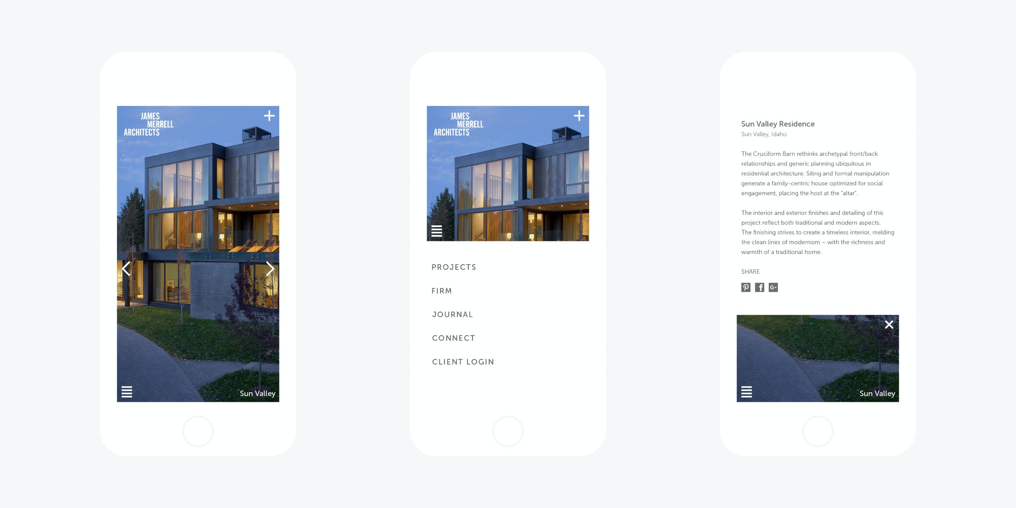 James Merrell Architects Mobile Web Design