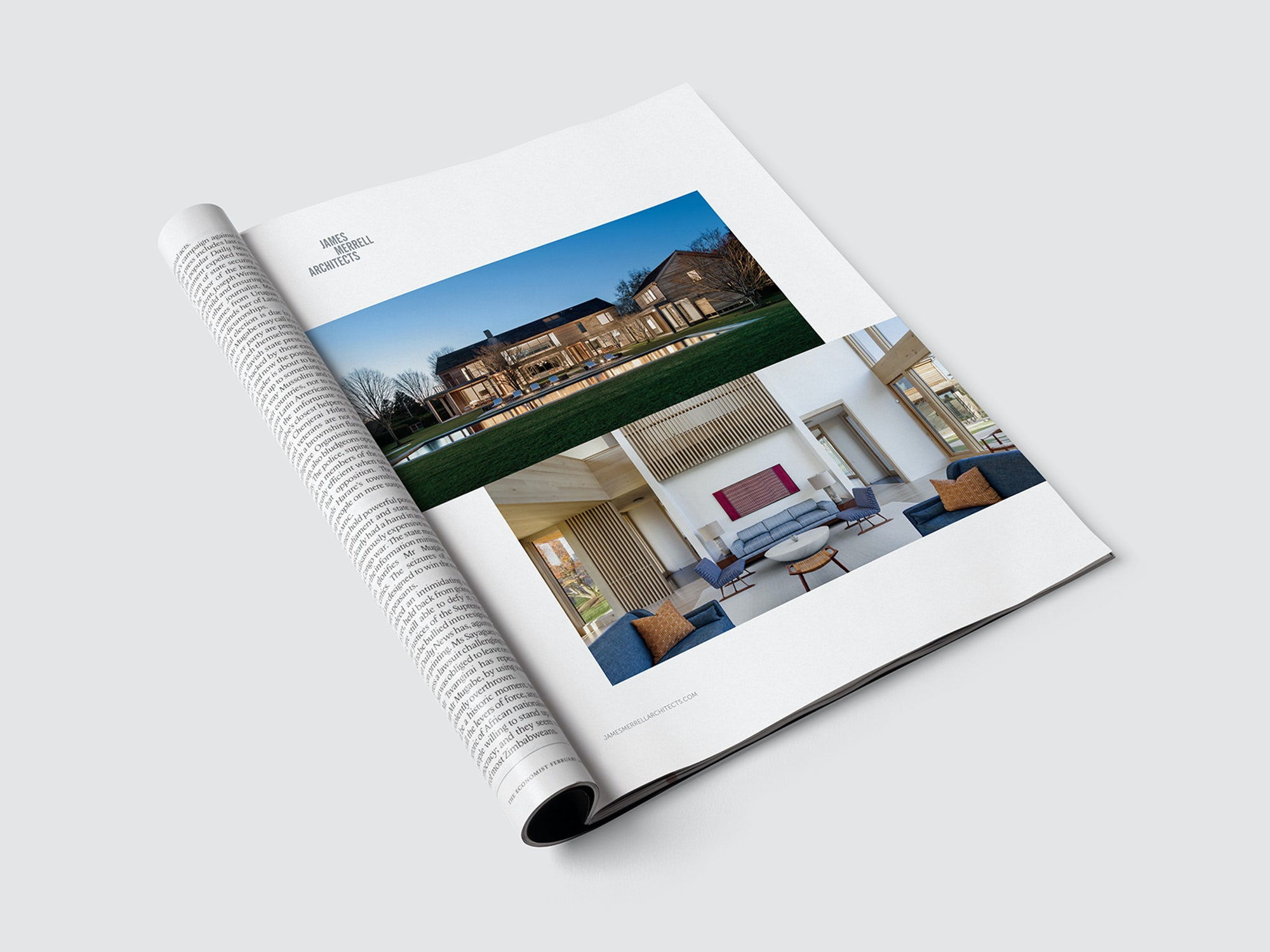 Magazine Ad Design for James Merrell Architects in NYC